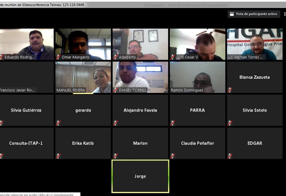 """Vídeo conferencia de salud """"regreso a clases"""" a personal del TecNM Campus Agua Prieta"""
