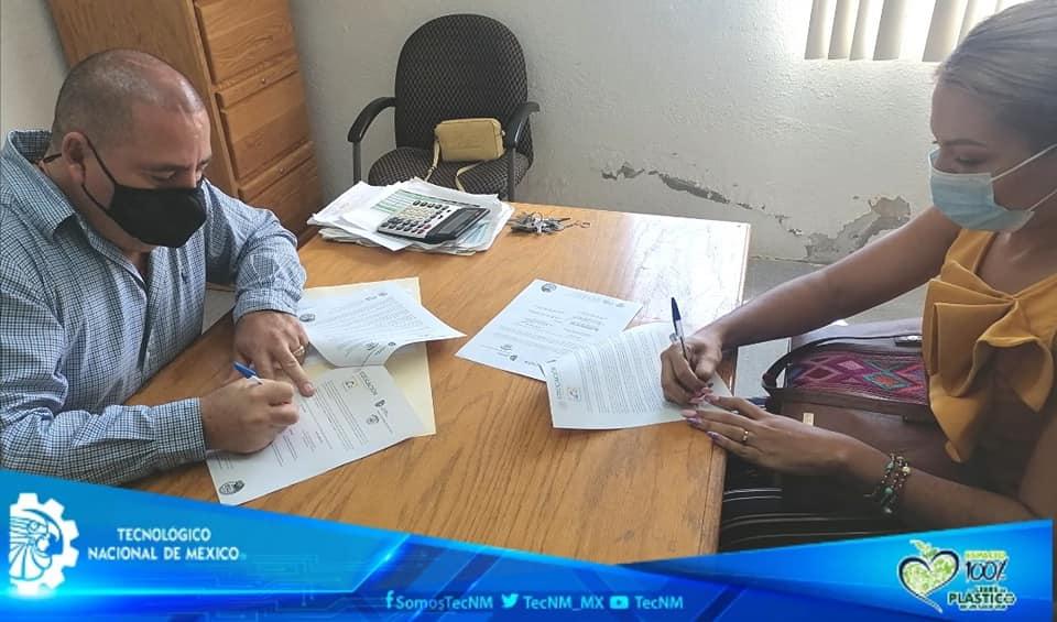 TECNM CAMPUS AGUA PRIETA Y EJIDO AGUA PRIETA FIRMAN CONVENIO DE COLABORACIÓN EN MATERIA DE BECAS EDUCATIVAS